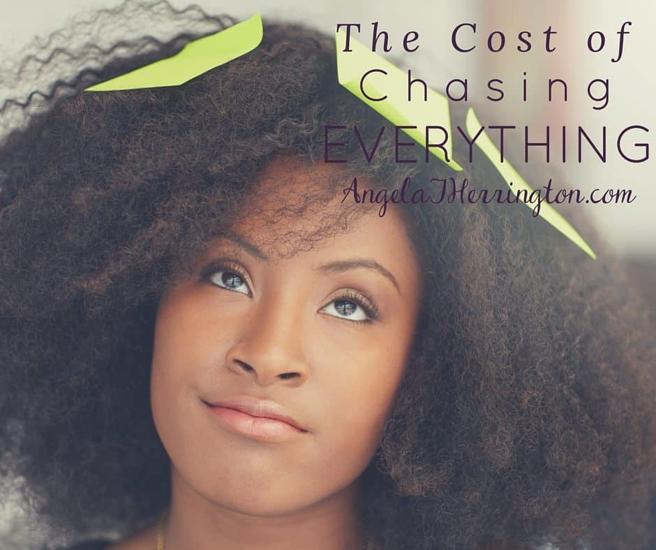 The Cost of Chasing Everything